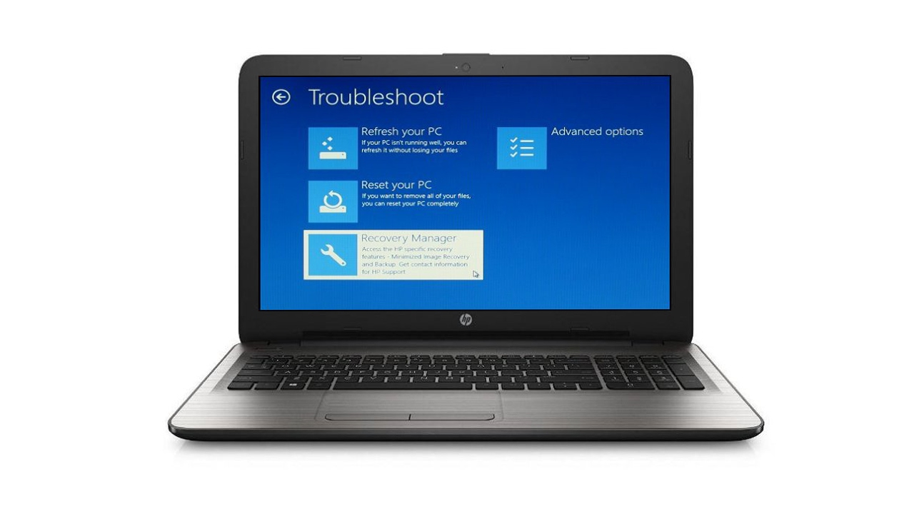 how to manually reset an hp laptop